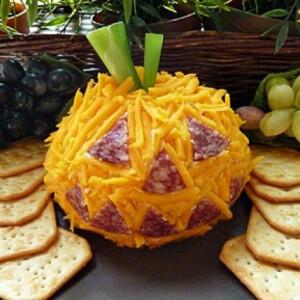 Halloweeni sajtos tökfej
