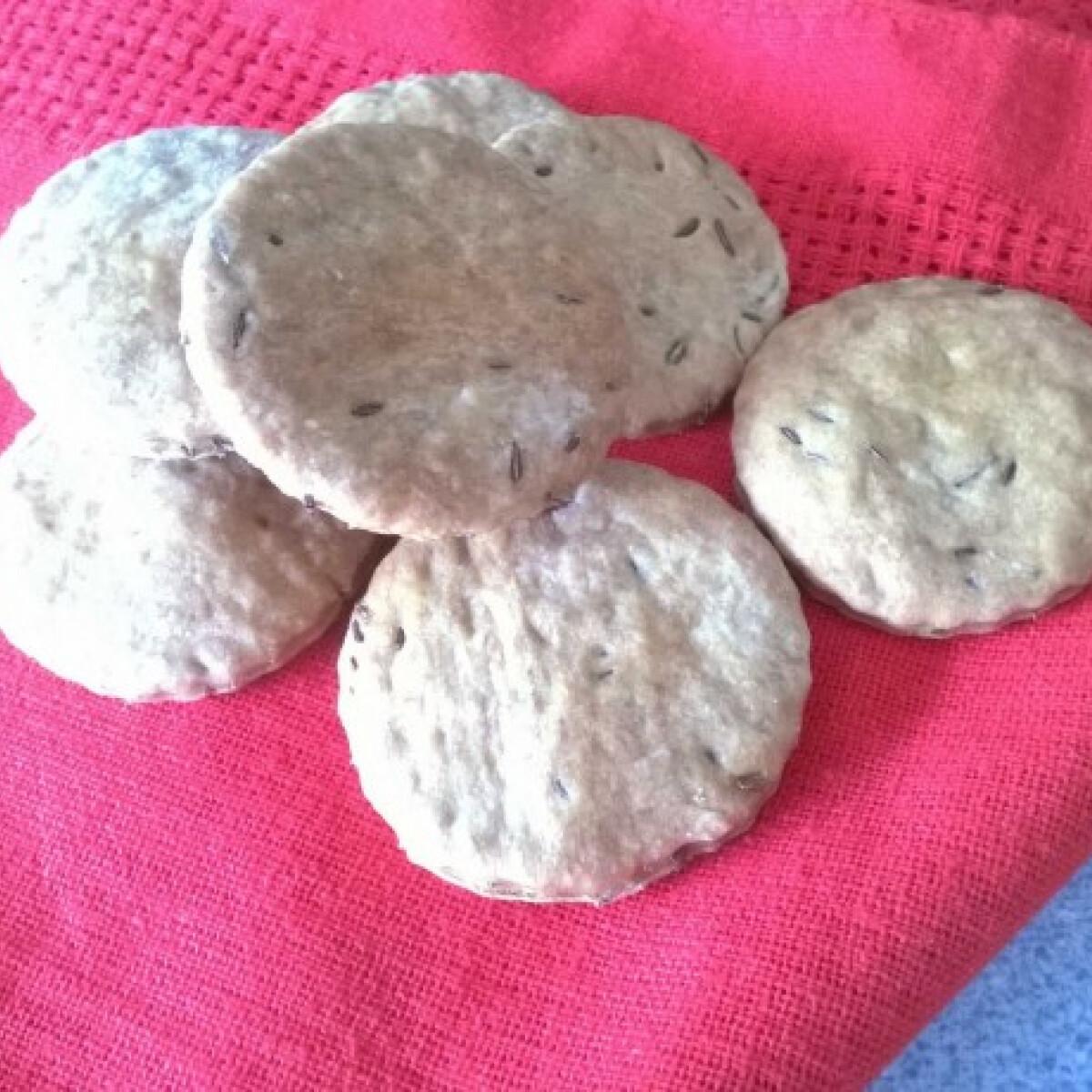 Vegán köménymagos keksz
