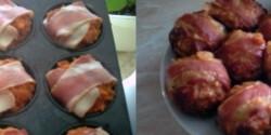 Baconös töltött fasírt