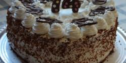 Tejfölös-tejszínes torta