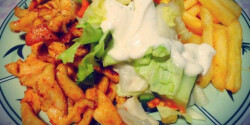 Gyors gyros tál salátával
