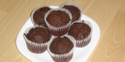 Hagyományos csokis muffin 2. (rumos-meggyes)