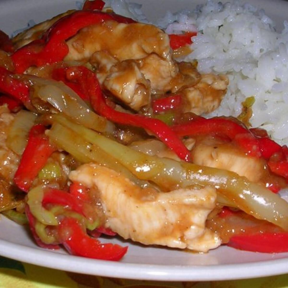 Fehérboros szecsuáni csirke