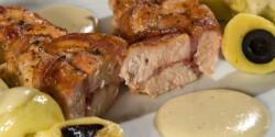 Fonott csirkemell mustáros mártással