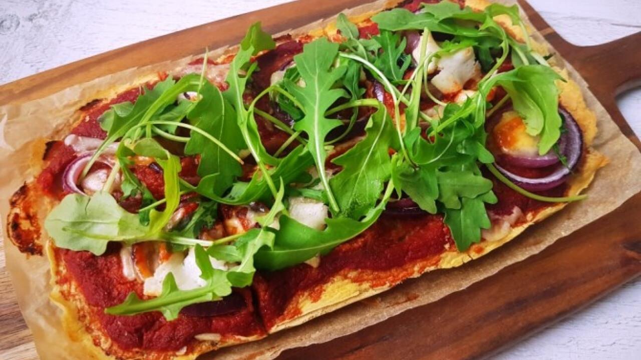 Pizzatészta csicseriborsólisztből gluténmentesen
