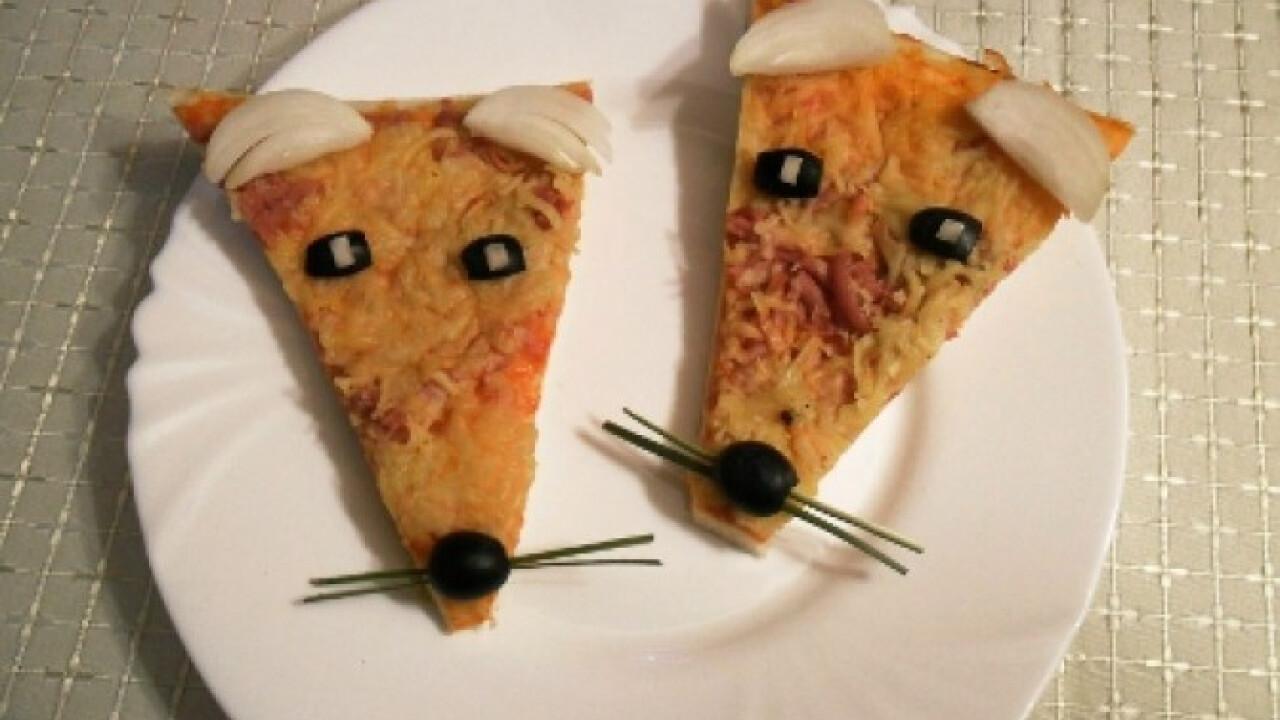 Mókás pizzaszeletek
