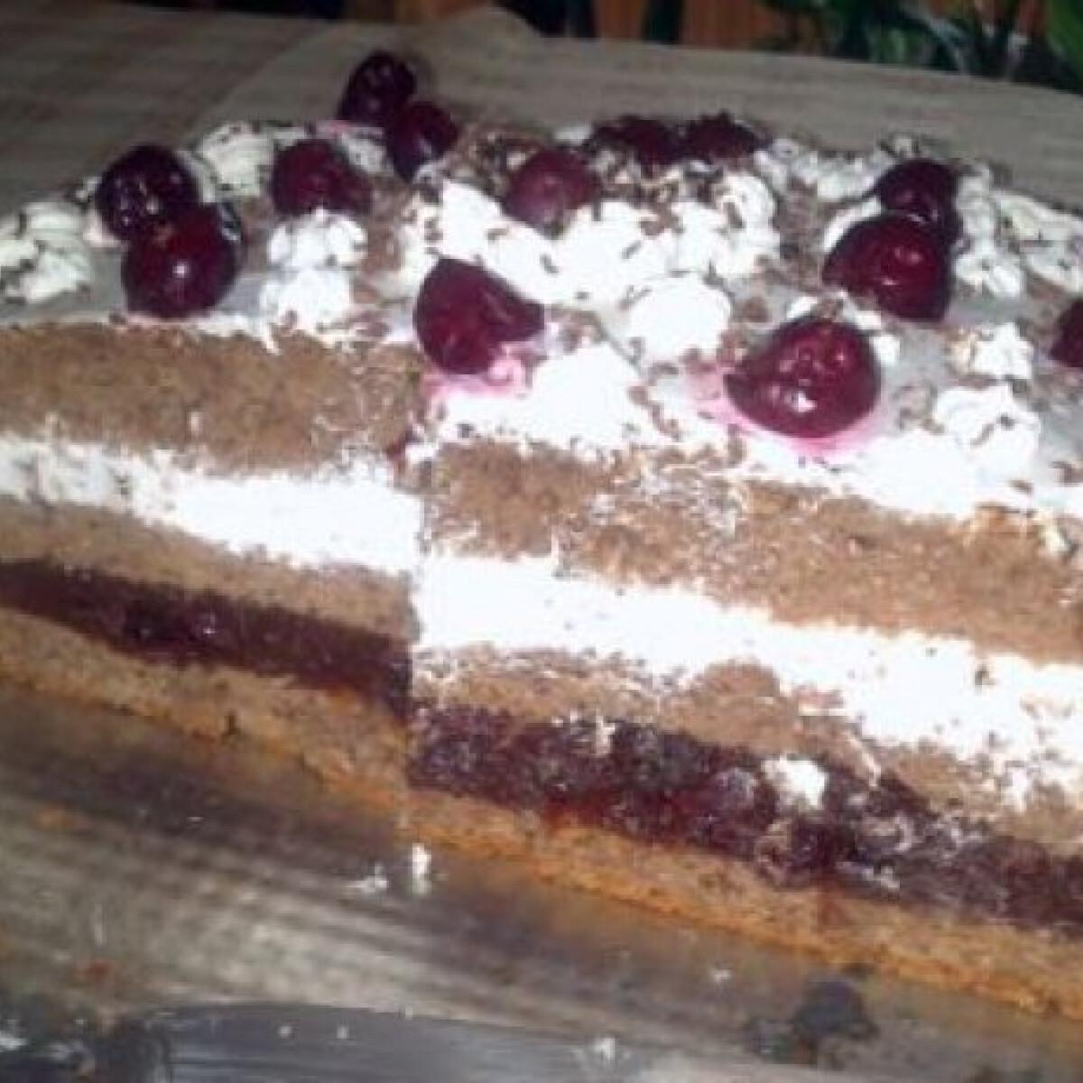 Ezen a képen: Feketeerdő-torta Nóri konyhájából