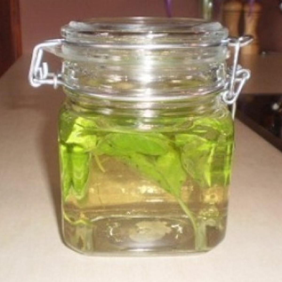 Ezen a képen: Bazsalikomos-snidlinges fűszerolaj
