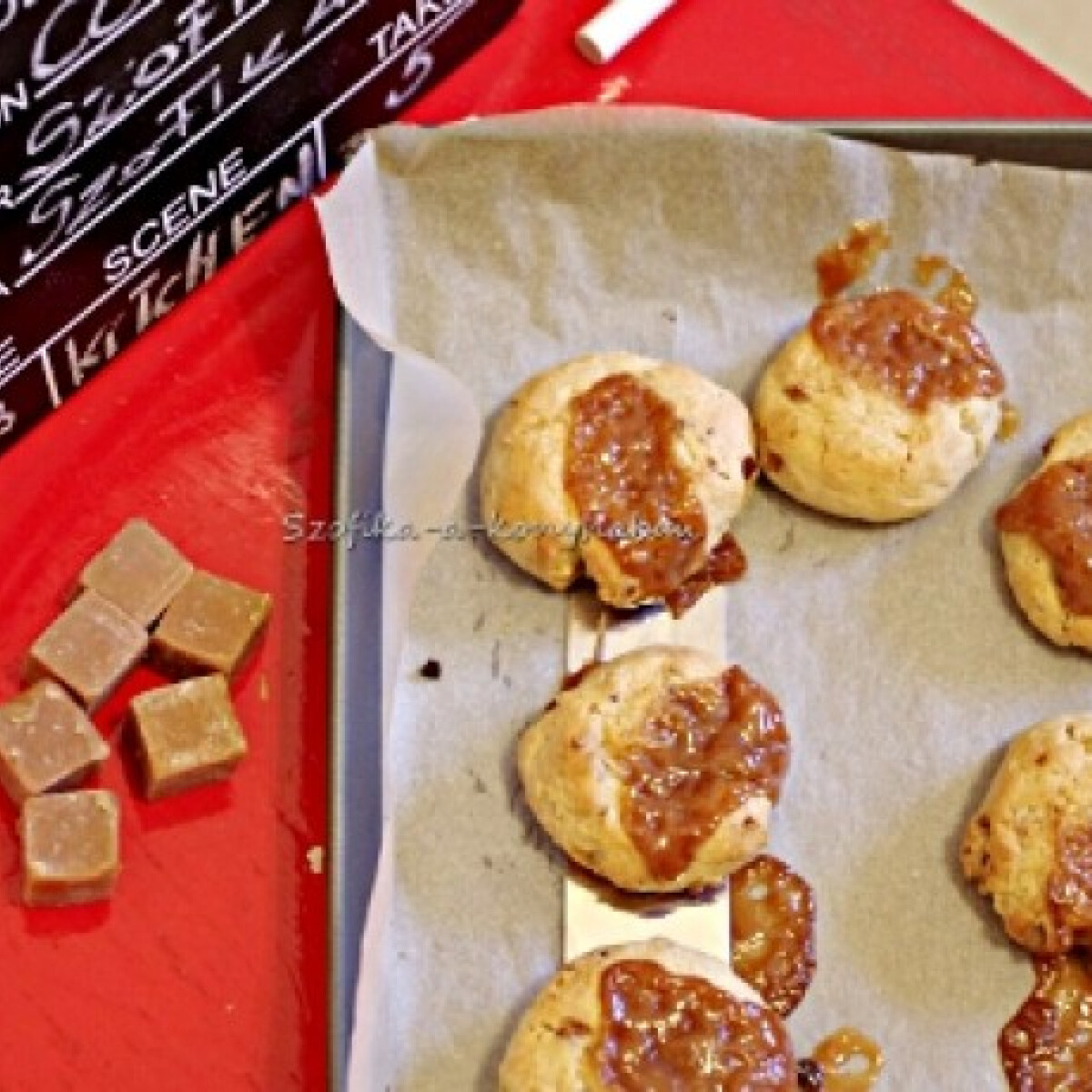 Pekándiós-vajkaramellás cookie