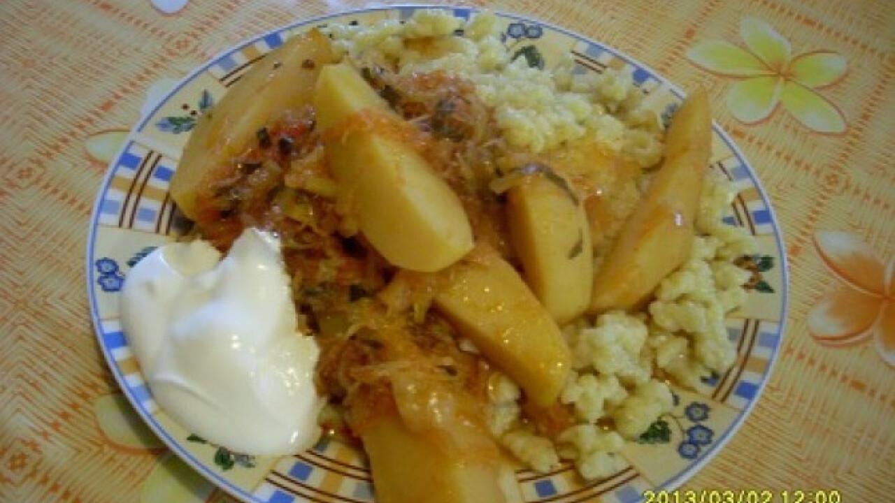 Fehérboros káposztás paprikás krumpli