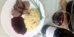 Őzgerinc körtés rizzsel