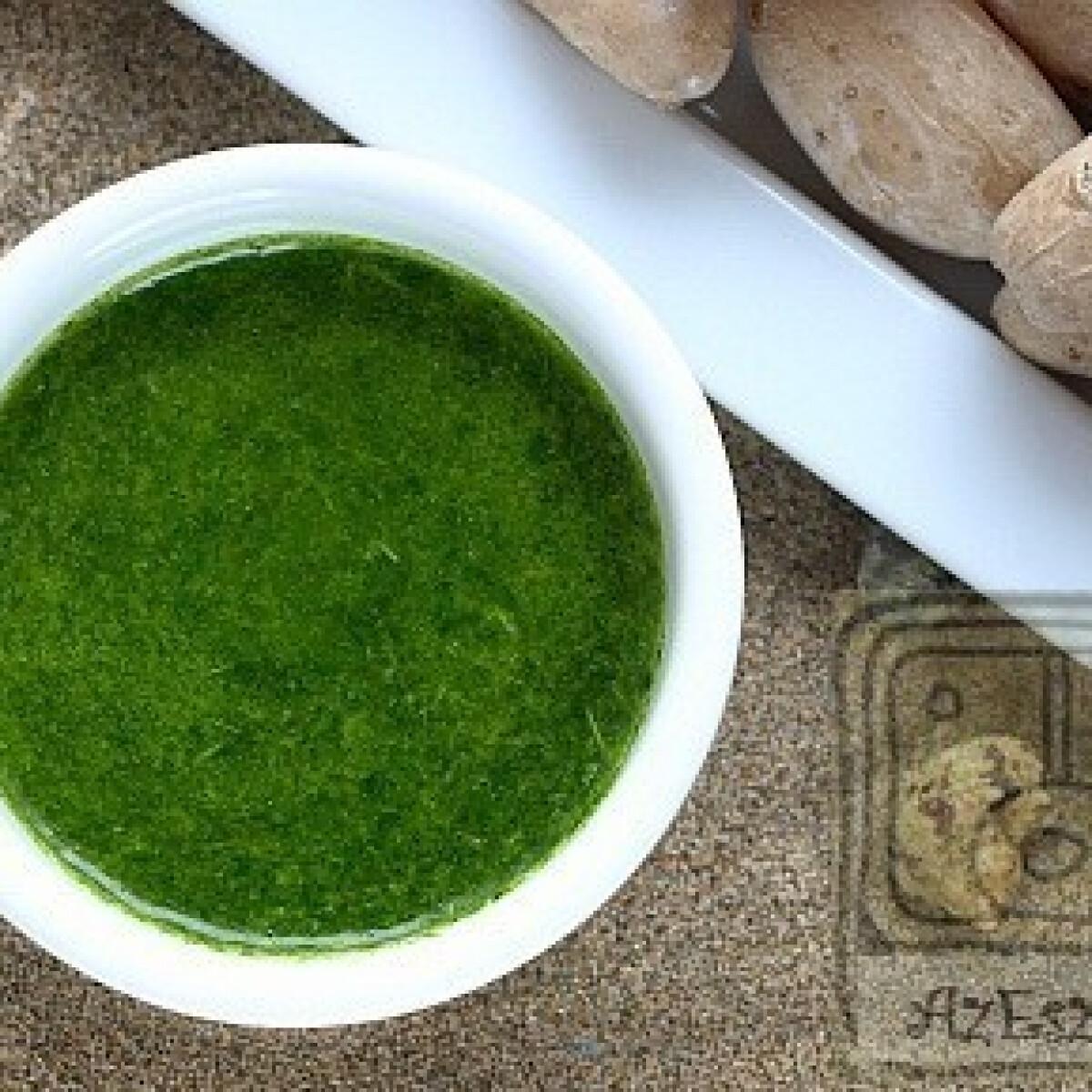 Ezen a képen: Mojo verde - zöld fokhagyma szósz