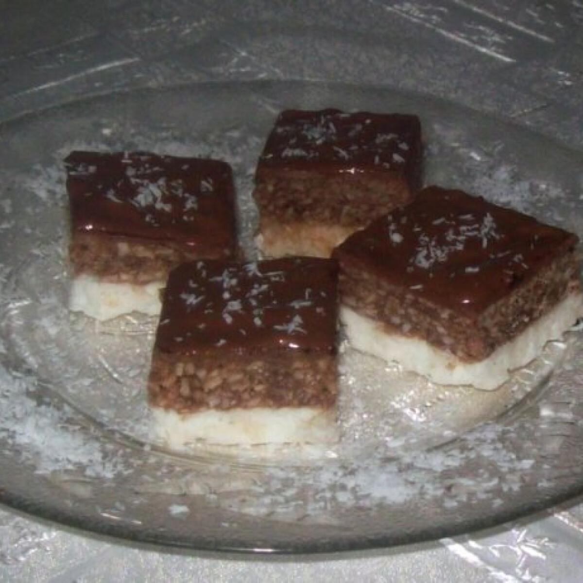 Hideg kókuszos kockák sütés nélkül