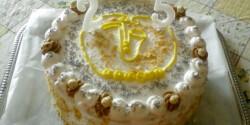 Mogyorós torta mascarponekrémmel