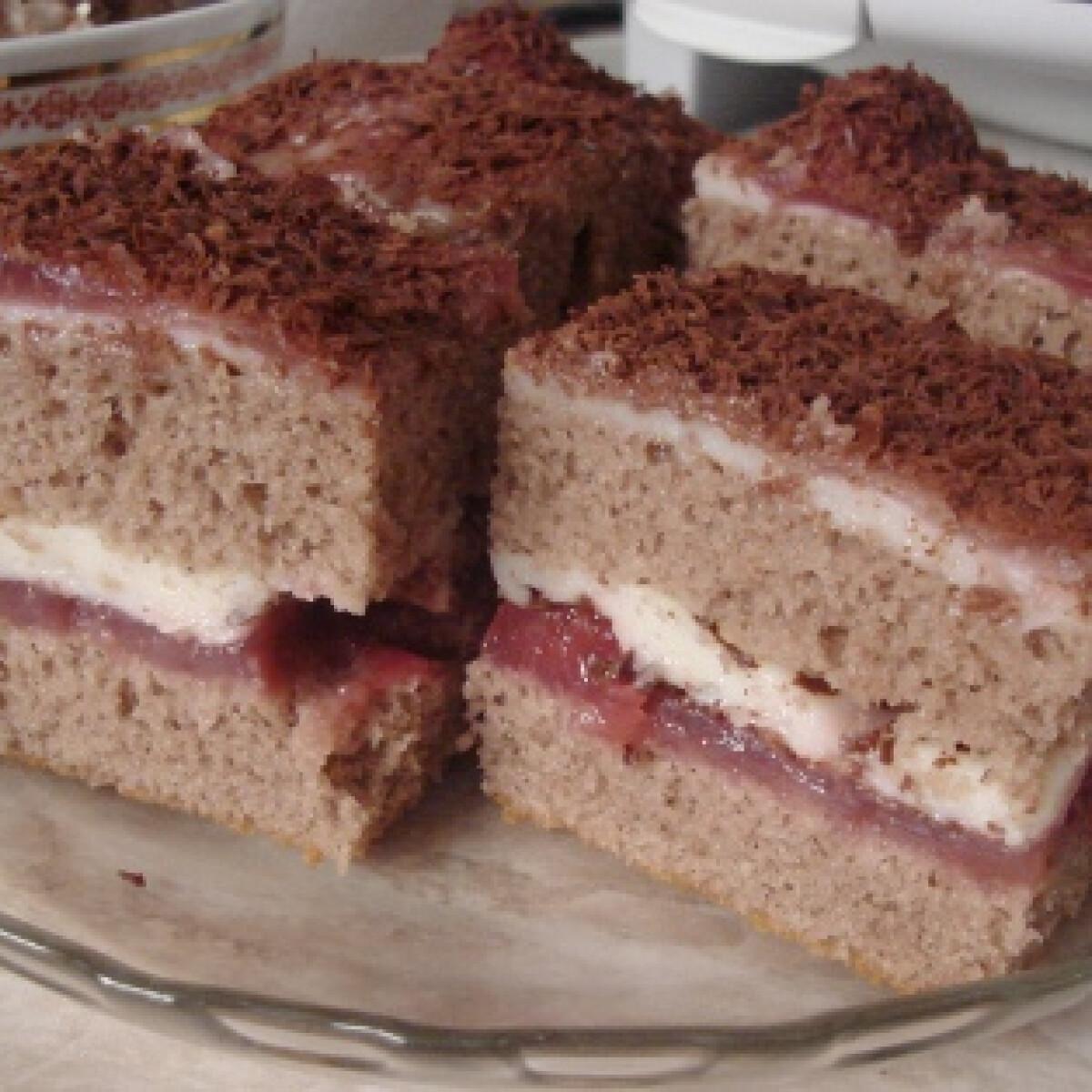 Ezen a képen: Meggyes-krémes süti Kynga konyhájából