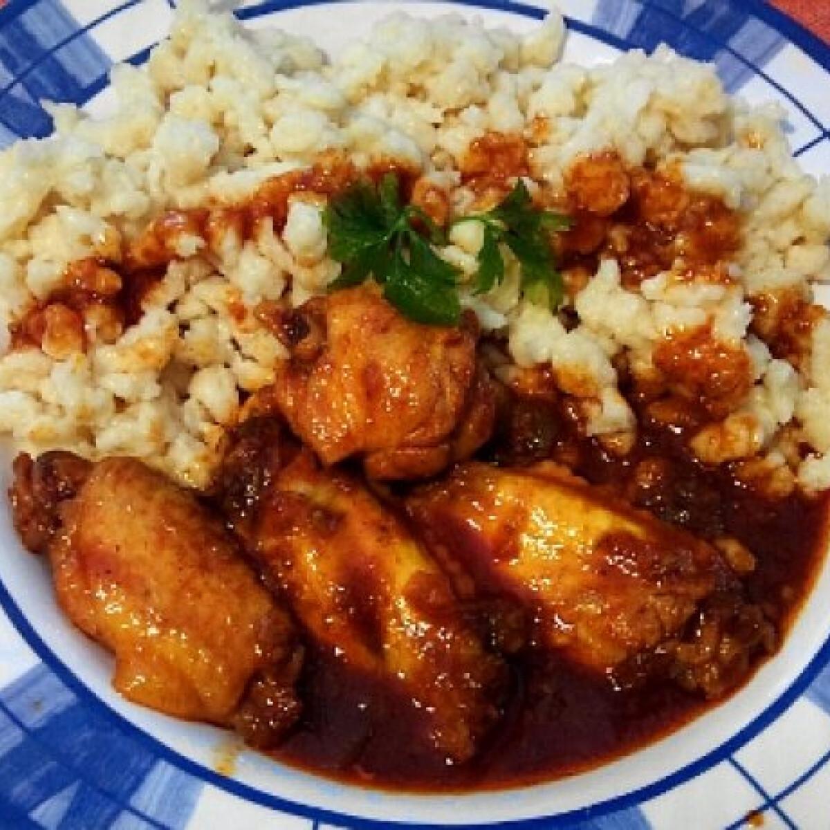 Ezen a képen: Csípős mézes paprikás csirke