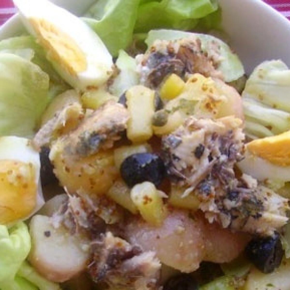 Ezen a képen: Nizzai saláta