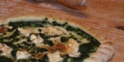 Spenótos török pizza