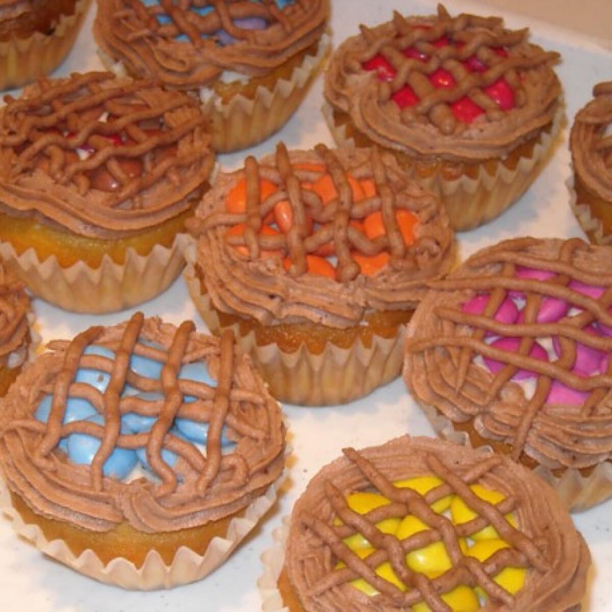 Rácsos pite muffin