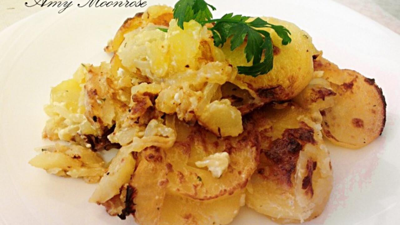 Sült krémes krumpli