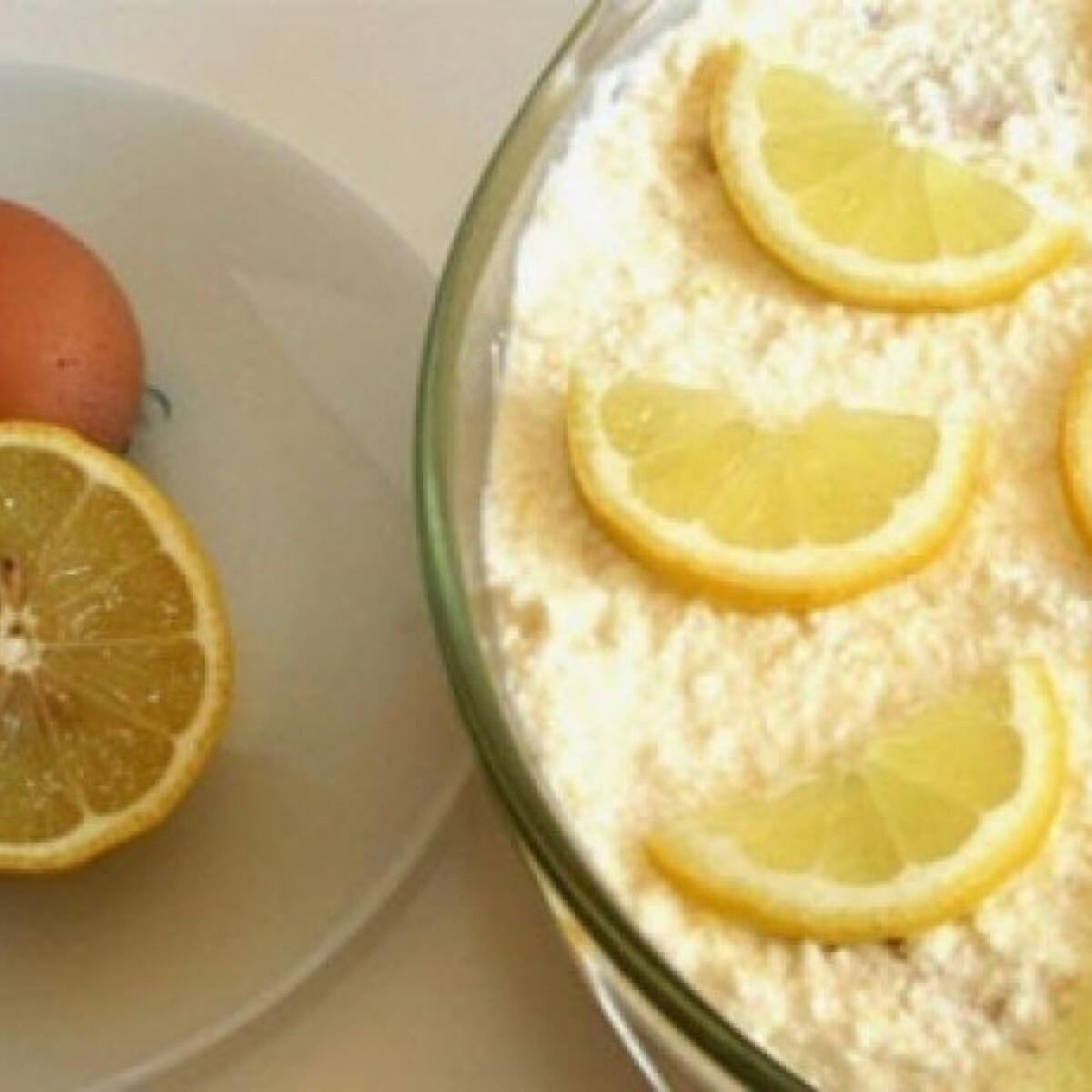 Frissítő citromos-túrós süti