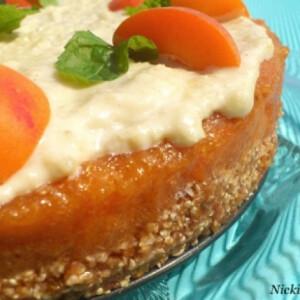 Sárgabarack-torta nyersen