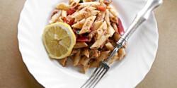 Citromos-paradicsomos szardíniás tészta