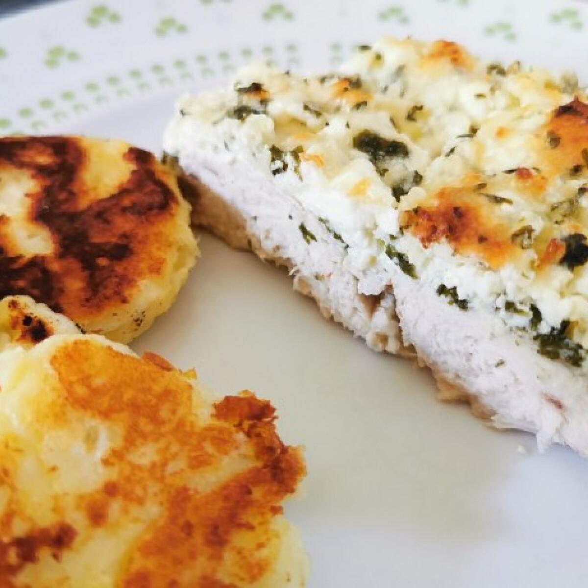 Csirkemell parajos friss sajttal