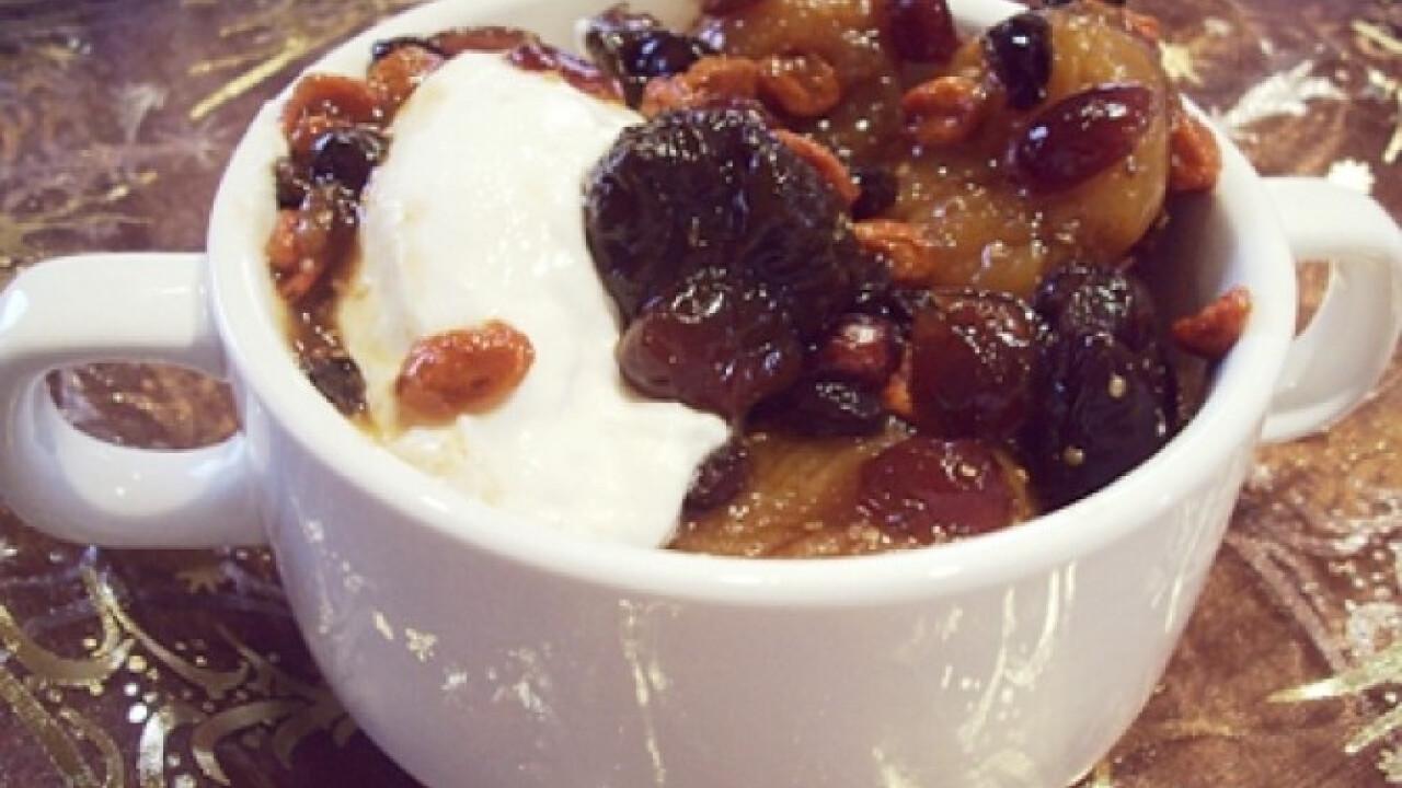 Téli gyümölcssaláta görög joghurttal