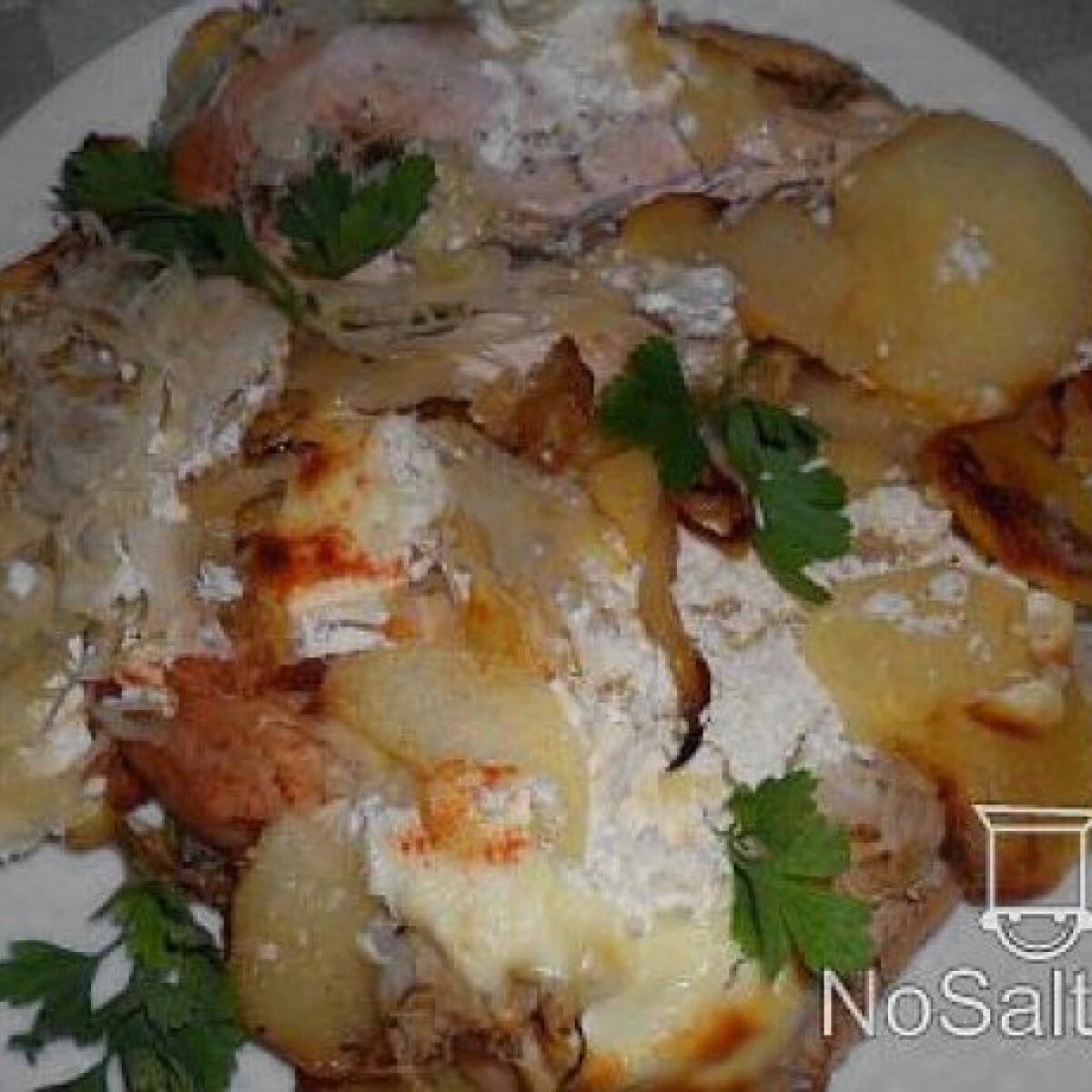 Káposztával rakott sült csirkemell
