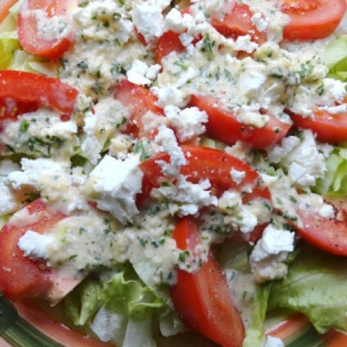 Ezen a képen: Paradicsomos jégcsap saláta fetával