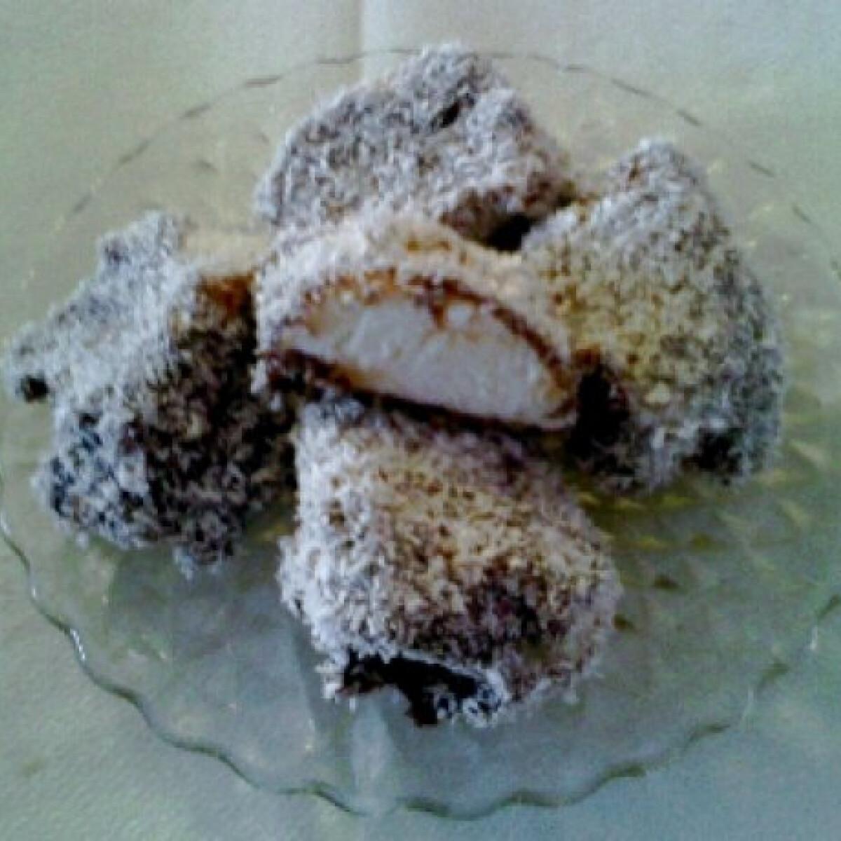 Ezen a képen: Kókuszos-csokikrémes habgaluska