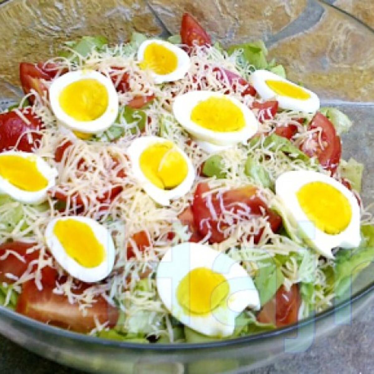 Ezen a képen: Málnaecetes fitness saláta