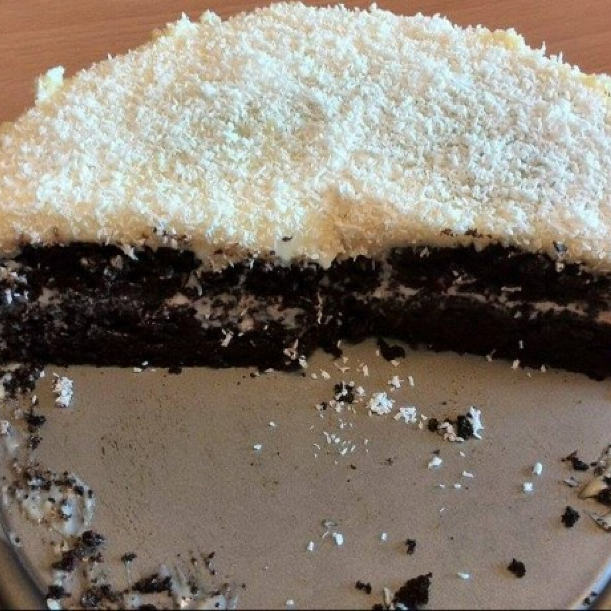 Csokis-kókuszos torta d0rka konyhájából