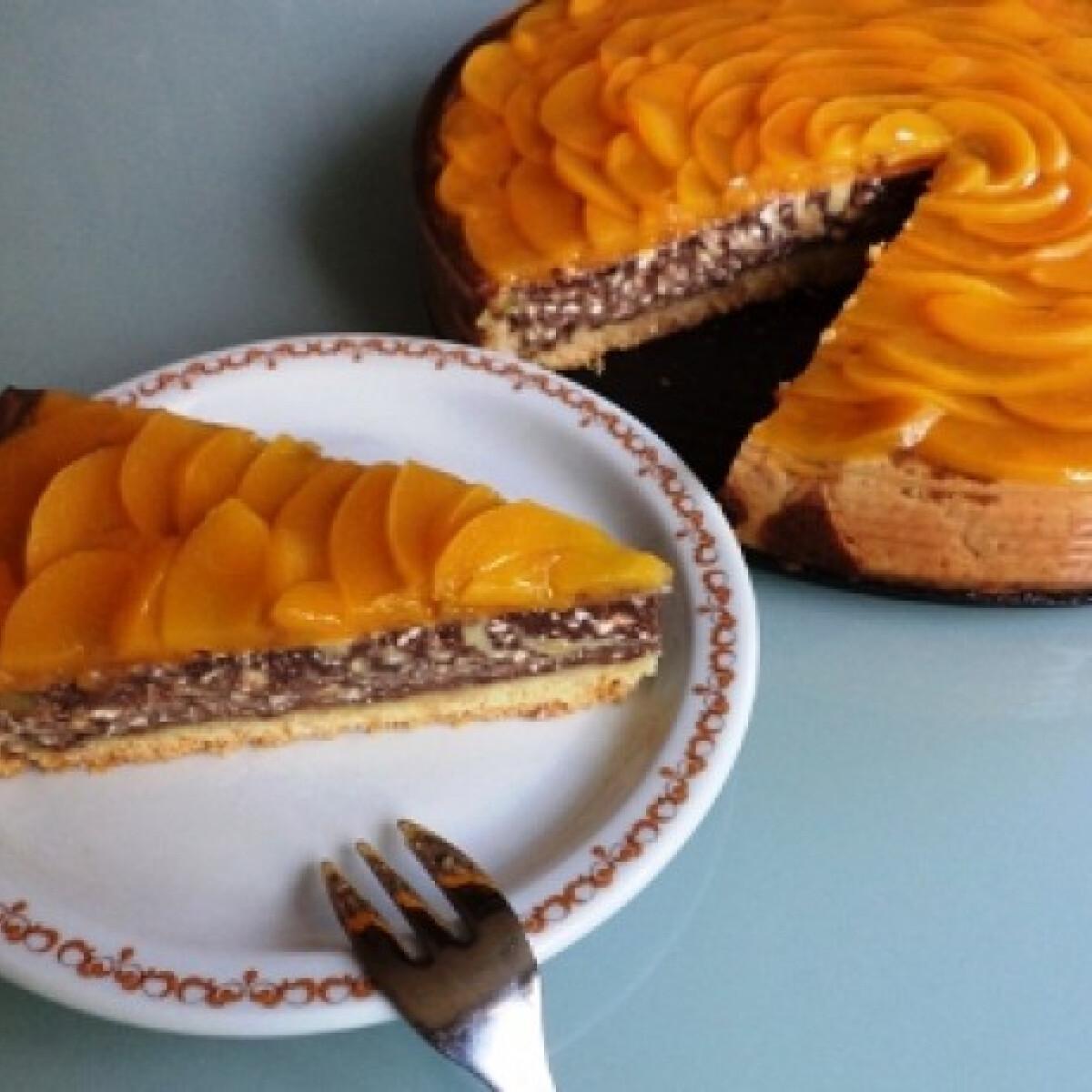 Ezen a képen: Őszibarackos túros süti Gabystól