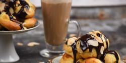 Kávéhabos profiterol