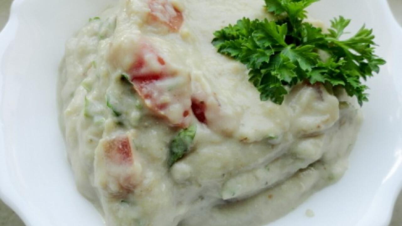 Joghurtos-chilis padlizsánkrém