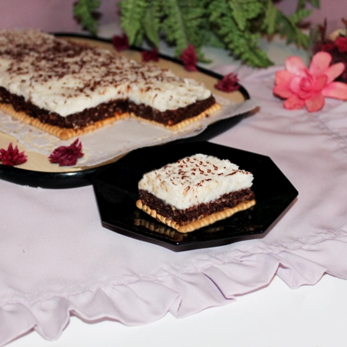 Ezen a képen: Kókuszos-csokoládés sütés nélkül