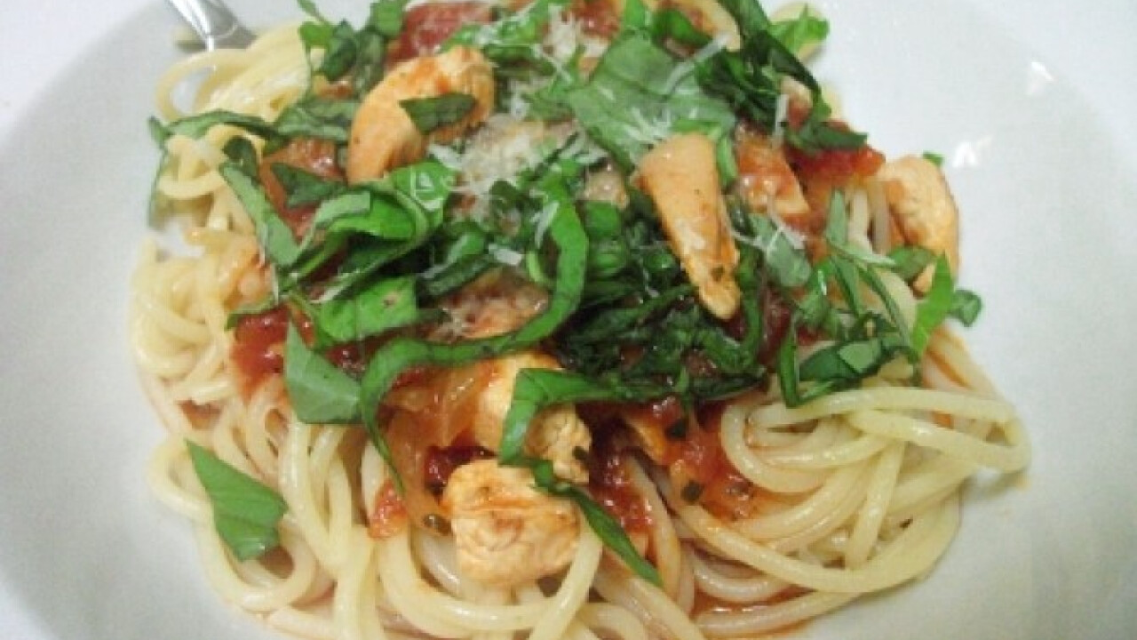 Csípős csirkés spagetti