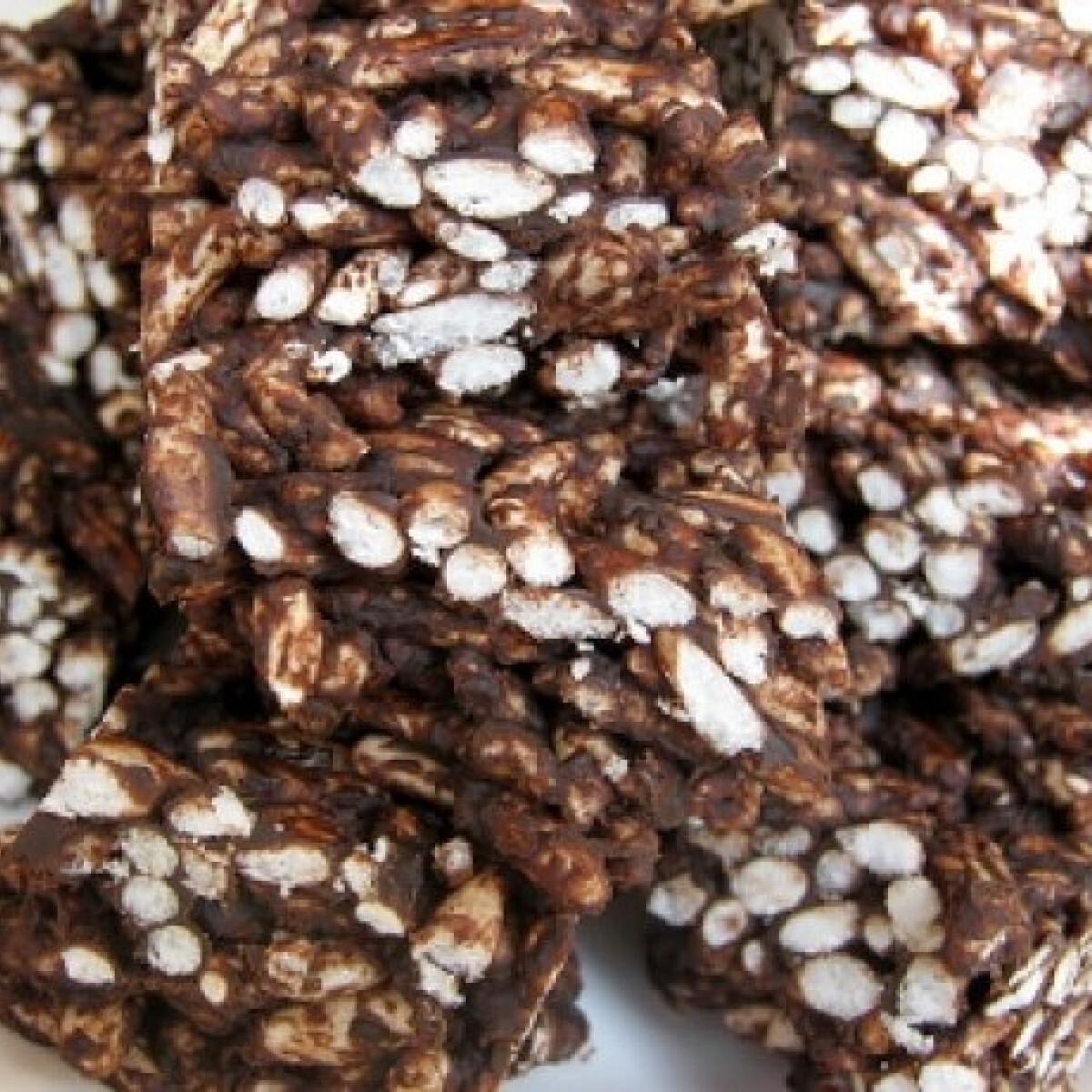 Ezen a képen: Csokis-rizses ropogós