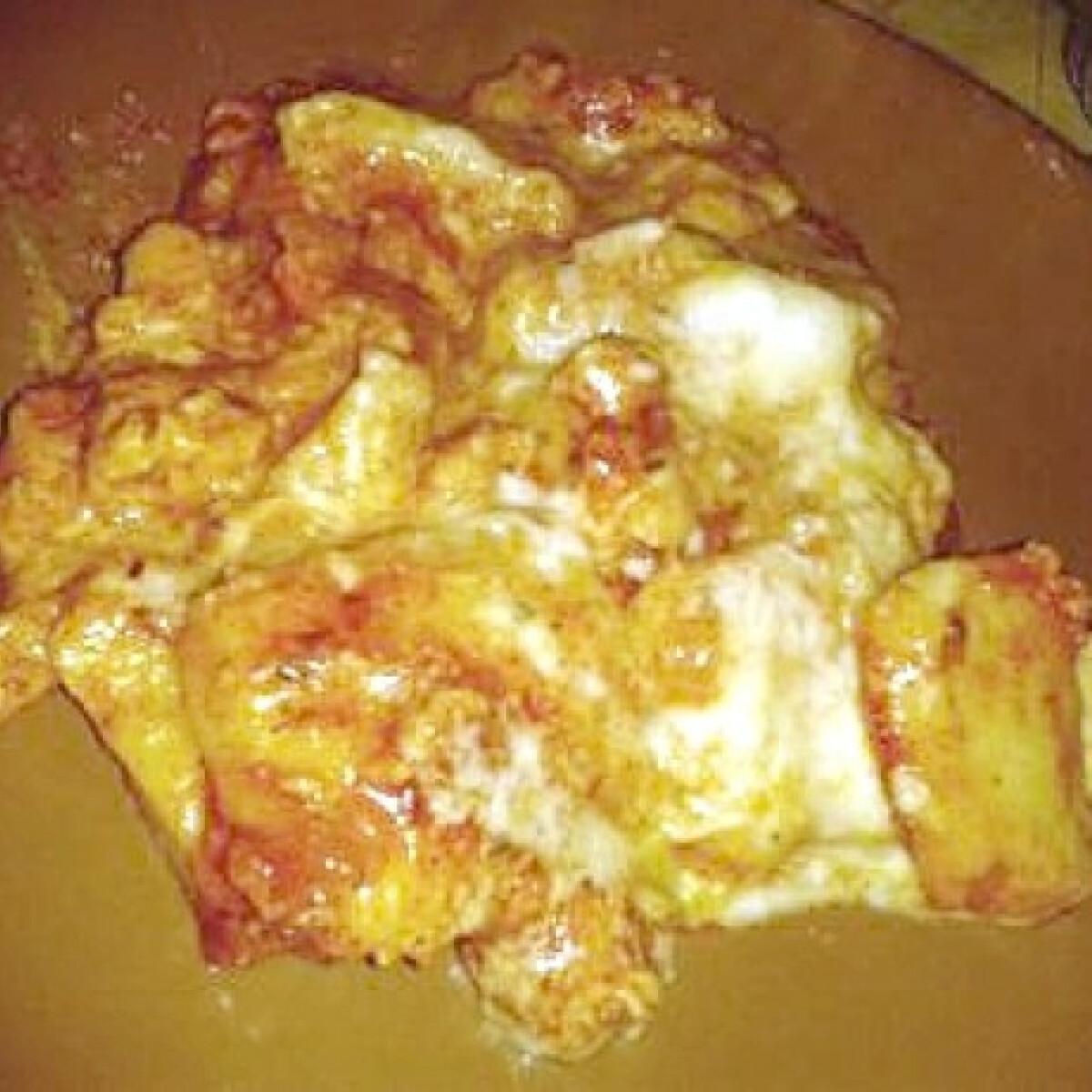 Ezen a képen: Gnocchi bolognais sajtmártással