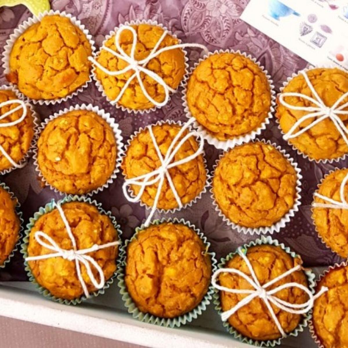 Ezen a képen: Sós, édesburgonyás muffin
