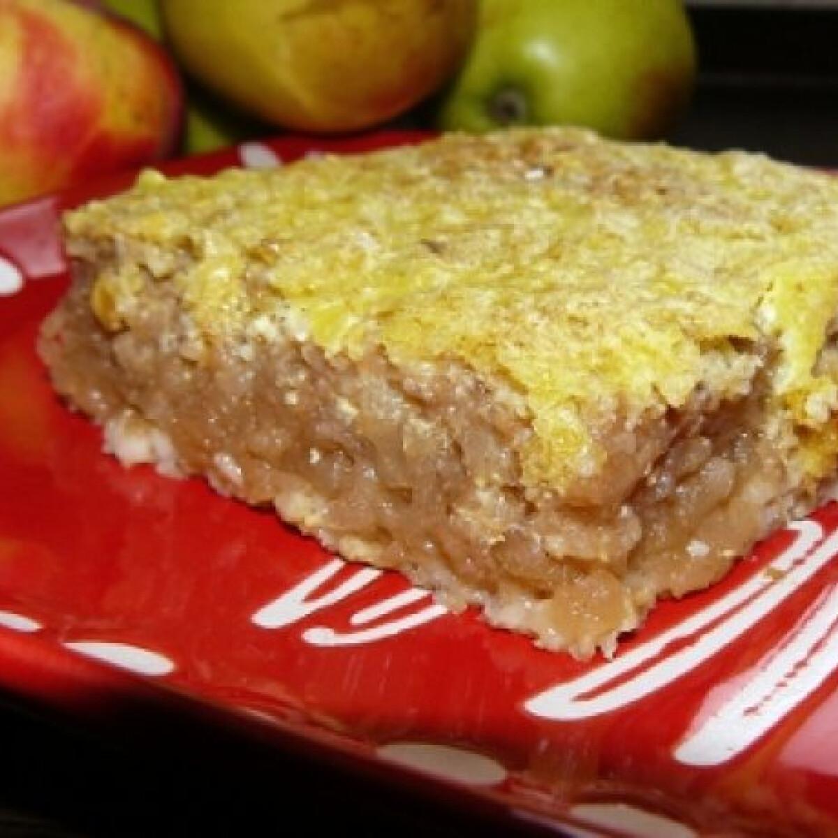 Ezen a képen: Zabos almás pite