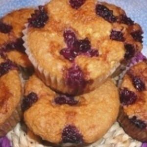 Mandulás-meggyes muffin liszt nélkül