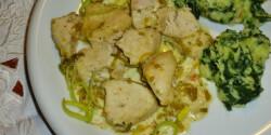 Tejszínes csirkemellfilé spenótos krumplipürével