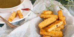 Ricottás-chilis polenta sóskamártással