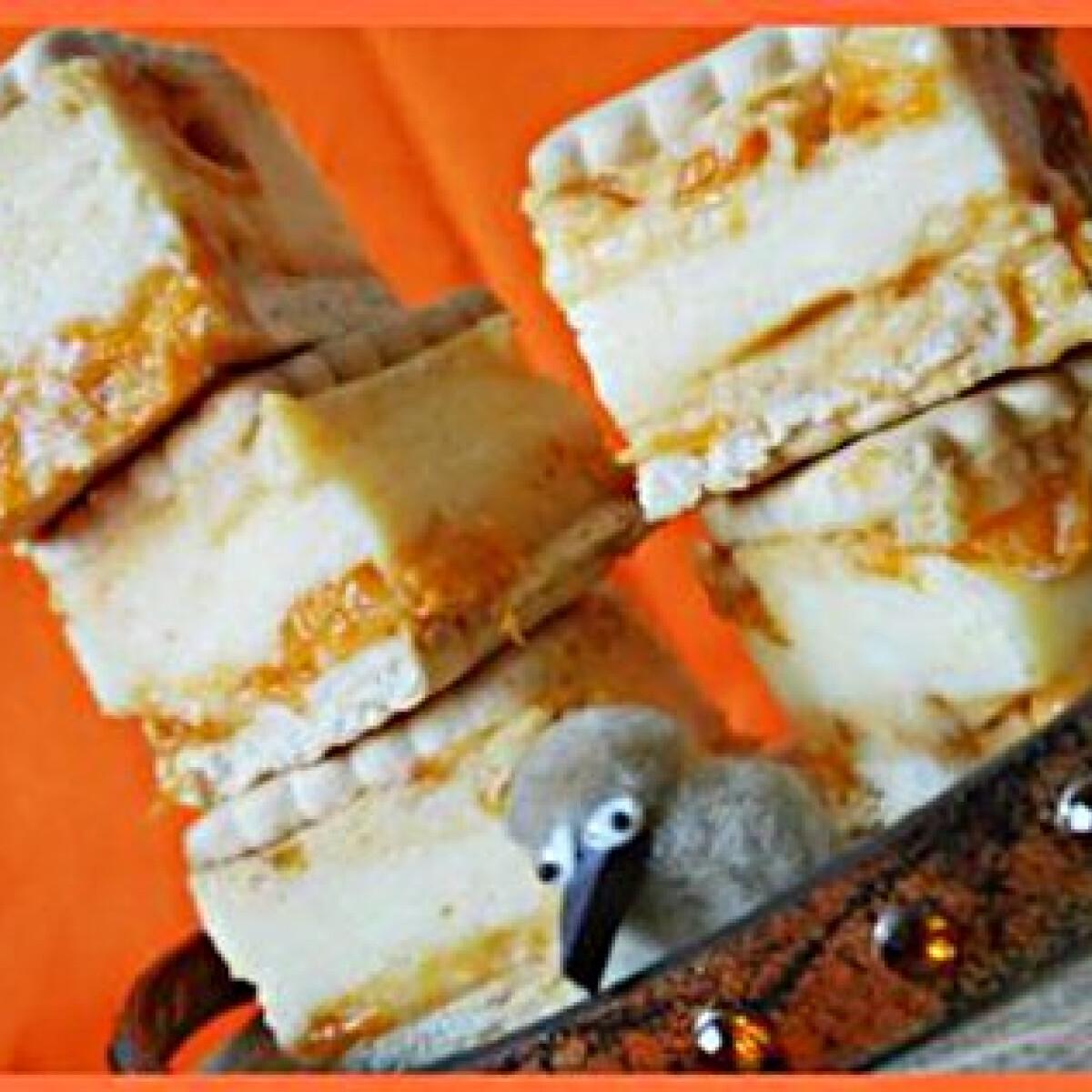 Ezen a képen: Sárgabarackos-kekszes krémes