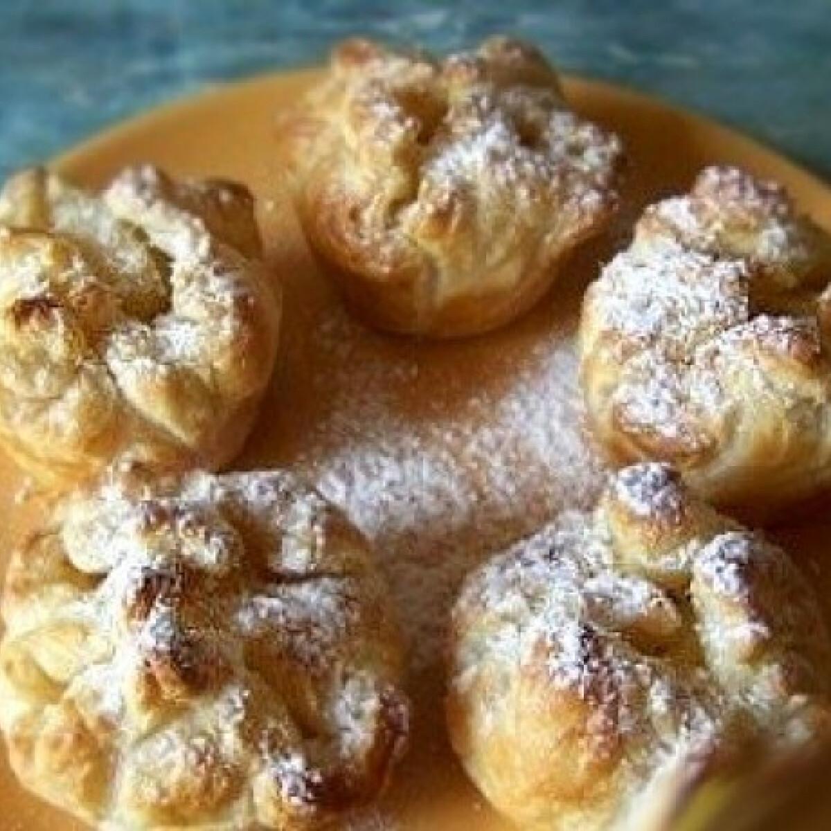 Ezen a képen: Muffinsütőben sült túrós kosárka -Túrós táska 2.