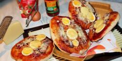 Húsvéti sonkás-tojásos pizzatallér