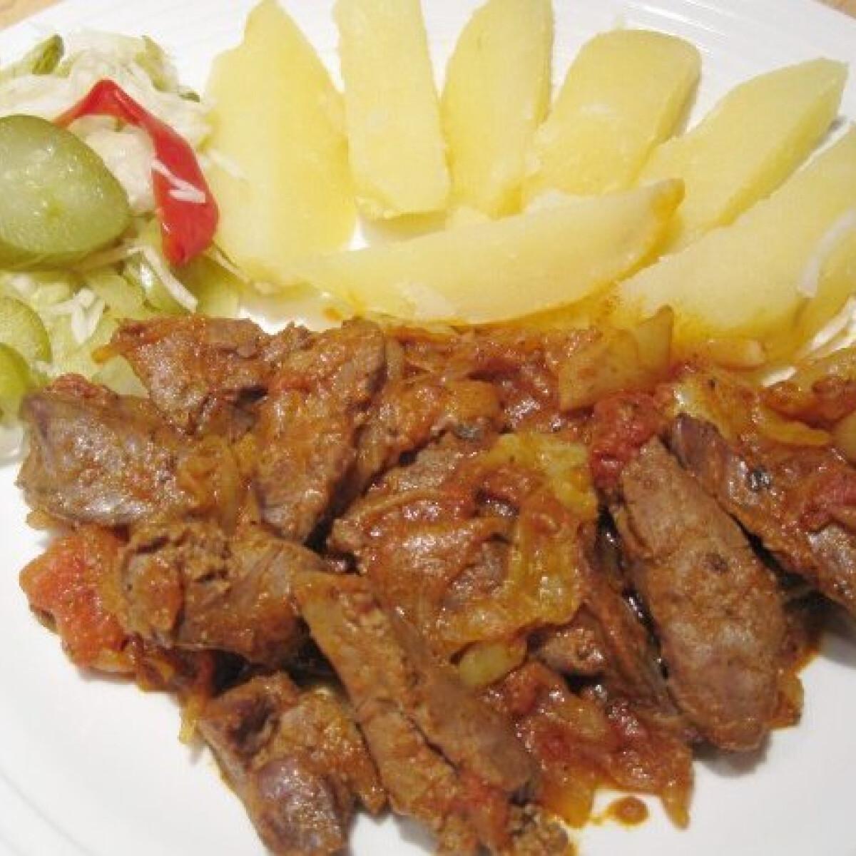 Magyaros csirkemáj Katharosz konyhájából
